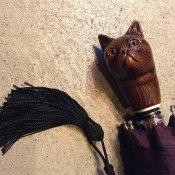 Guy de Jean (ギドゥジャン) 折りたたみ傘 猫 Prune
