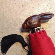 Guy de Jean (ギドゥジャン) 折りたたみ傘 ウサギ Red
