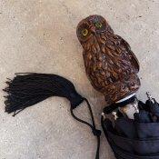 Guy de Jean (ギドゥジャン) 折りたたみ傘 フクロウ Black