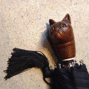 Guy de Jean(ギドゥジャン)折りたたみ傘 猫 Black