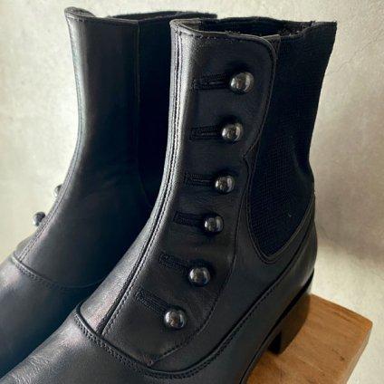 BEAUTIFUL SHOES Buttoned Sidegore Boots(ビューティフルシューズ ボタンドサイドゴアブーツ) Black