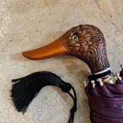 Guy de Jean (ギドゥジャン) 折りたたみ傘 カモ Prune