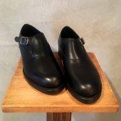 BEAUTIFUL SHOES Singlemonk Shoes(ビューティフルシューズ シングルモンクシューズ)Black Kip