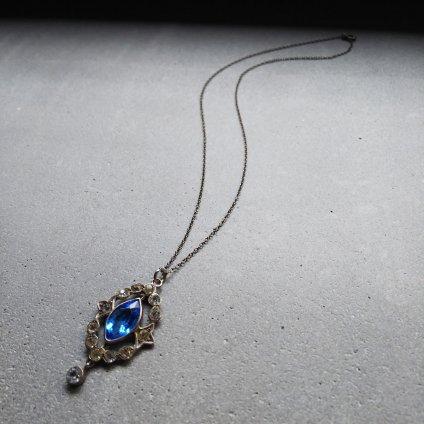 1930's Silver×Paste Glass Pendant(1930年代 シルバー×ペースト ガラス ペンダント)