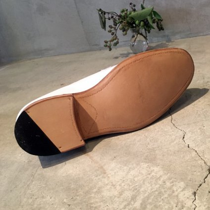 SONOMITSU Buttoned Shoes(ソノミツ ボタンシューズ) White