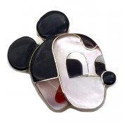 Paula Leekity Brooch Pendant top Mickey Mouse(ポーラ リーキティ ブローチ・ペンダントトップ ミッキーマウス)