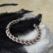 Braided Wire Silver Bracelet(ブレイデッドワイヤー シルバーバングル)