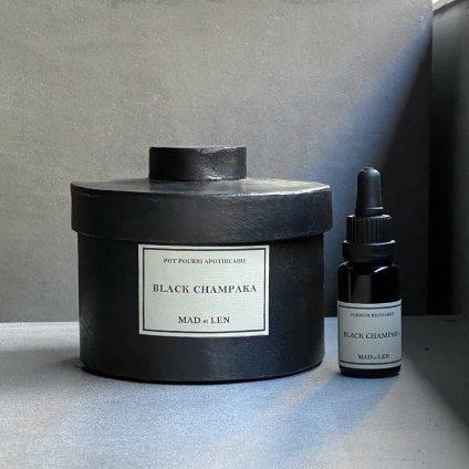 MAD et LEN Pot Pourri d'Apothicaire BLACK LAVA ROCK BLACK CHAMPAKA(マドエレン ポプリ ブラック ラヴァロック ブラックシャンパカ )