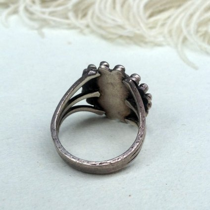 Turquoise Split Shank Silver Ring(ターコイズ スプリットシャンク シルバーリング)