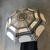 Guy de Jean EIFFEL TOWER(ギドゥジャン エッフェル塔)折りたたみ傘 Ivory