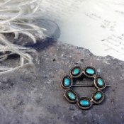 Needle Point Turquoise Brooch(ニードルポイント ターコイズ ブローチ)