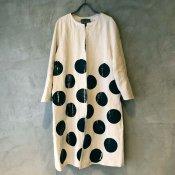 VINCENT JALBERT Dots Coat (ヴィンセント ジャルベール ドットコート) Off White