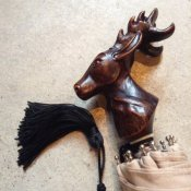 Guy de Jean (ギドゥジャン) 折りたたみ傘 シカ Beige