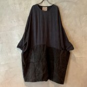 VINCENT JALBERT Large Army Patch Dress  (ヴィンセント ジャルベール アーミーパッチドレス ) Charcoal