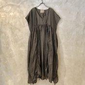 VINCENT JALBERT Parachute Sleeveless Dress  (ヴィンセント ジャルベール パラシュート スリーブレス ドレス ) Brown