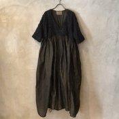 VINCENT JALBERT Parachute Lace Dress L/S  (ヴィンセント ジャルベール パラシュート レースドレス ) Brown