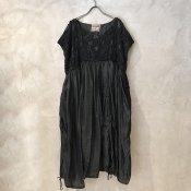 VINCENT JALBERT Parachute Lace Sleeveless Dress  (ヴィンセント ジャルベール パラシュート レース スリーブレスドレス ) Charcoal