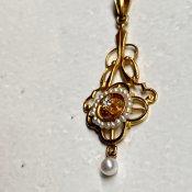 Edwardian 10K Pearl×Diamond Necklace(エドワーディアン 10K パール×ダイヤモンド ネックレス)