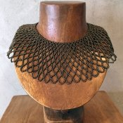 1950's Glass Beads Collar(1950年代 ガラスビーズ つけ襟)Brown