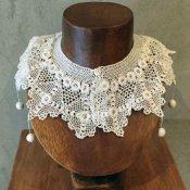 1890~1910's FRANCE Crocheted lace Antique Collar(1890〜1910年代 フランス クロッシェレース アンティークつけ襟)