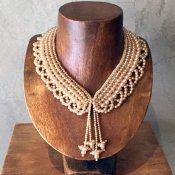1950's Pearl×Glass Beads Collar w/Tassles(1950年代 パール×ガラスビーズ つけ襟 タッセル付)