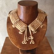 1950's Pearl×Glass Beads Collar w/Tassels(1950年代 6連パール×ガラスビーズ つけ襟 タッセル付)