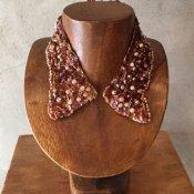 1950's Sequins×Pealr Beads Collar(1950年代 スパンコール×パールビーズ つけ襟)