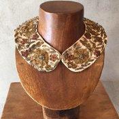 1950's〜60's Zari Embroidery Collar(1950〜60年代 ザリ刺繍 つけ襟)White