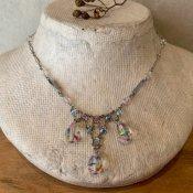 1940's Iris Glass Necklace(1940年代 アイリスガラス ネックレス)