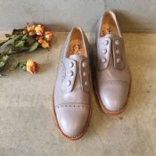 SONOMITSU Buttoned Shoes(ソノミツ ボタンシューズ) Light Gray