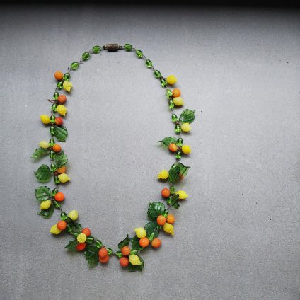 1940's Glass Fruits Necklace (1940年代 ガラス フルーツ ネックレス)