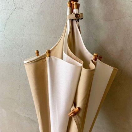DiCesare Designs (ディチェザレデザイン) 晴雨兼用日傘 Kabocha 2TONE Ochre & White