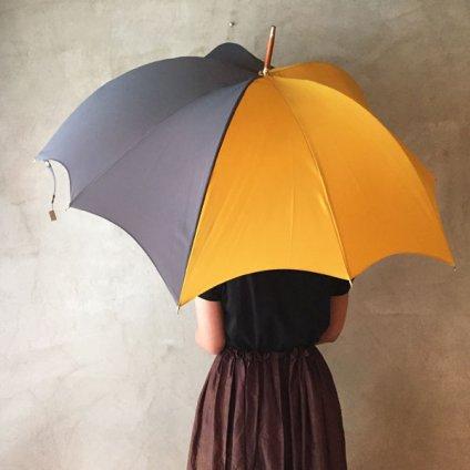 DiCesare Designs (ディチェザレデザイン) 雨傘 MEZZO Grey & Saffron