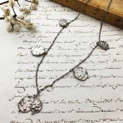 """1940's """"Monnaie du pape"""" Necklace(「ゴウダソウ」の種モチーフ ネックレス)"""
