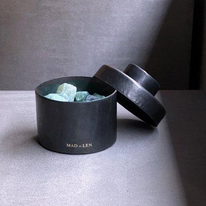 MAD et LEN Pot Pourri mini Green~emerald brut,green aventurine~(マドエレン ポプリ ミニ グリーン)
