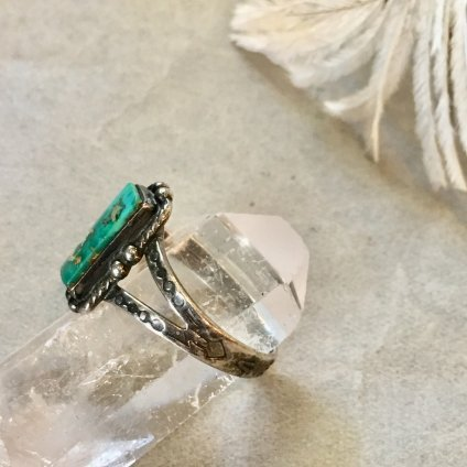 Silver×Green Turquoise Ring(シルバー×グリーンターコイズリング)