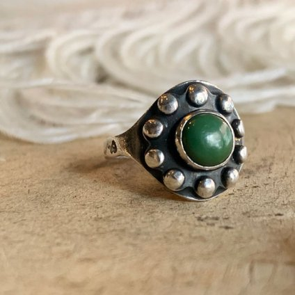 Green Turquoise Silver Ring(グリーンターコイズ シルバーリング)