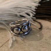 Vintage Mexican Silver Concho Ring (メキシカン シルバーコンチョ リング)