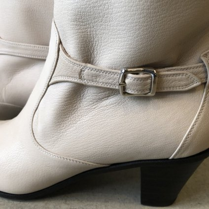 SONOMITSU Belted Short Boots(ソノミツ ベルト付 ショートブーツ)Off White