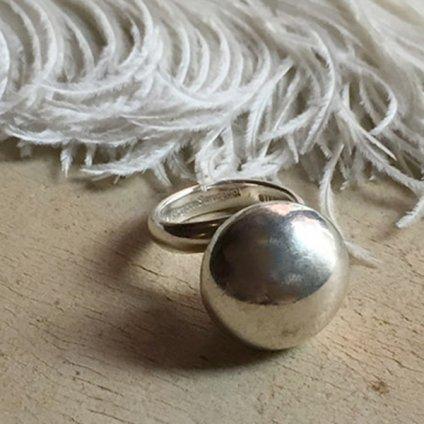 Navajo Pearl Silver Ring by Sharon Sandoval(シャロン・サンドバル作 ナバホパール シルバーリング)
