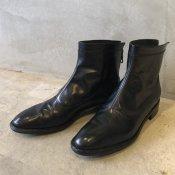 SONOMITSU Back Zip Short Boots(ソノミツ バックジップ ショートブーツ)Black