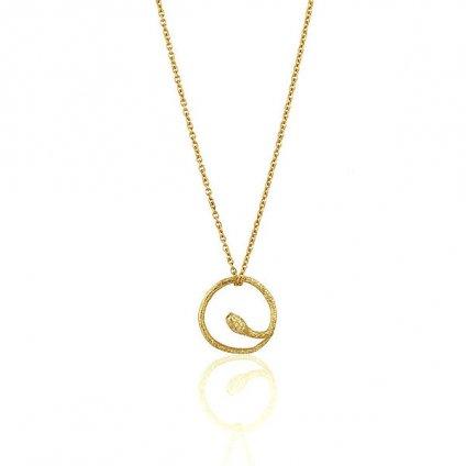 momocreatura Round Snake Necklace Gold(ラウンドヘビネックレス ゴールド)