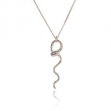 momocreatura Waving Snake Necklace Silver(ヘビネックレス 燻しシルバー)