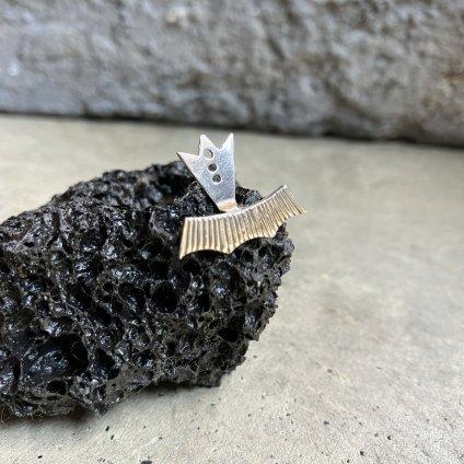 momocreatura Halo Ear Jacket Part Silver Single(モモクリアチュラ ハロ イヤージャケット シルバー 片耳)