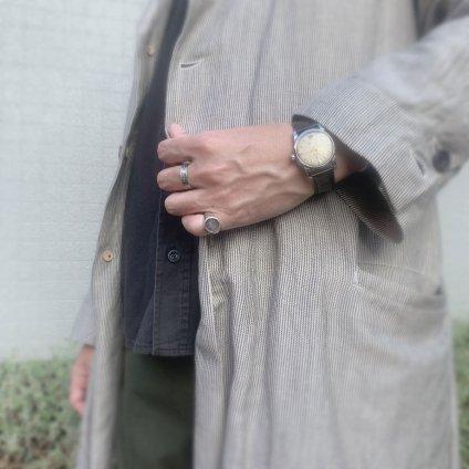 momocreatura Moon Signet Ring Silver (モモクリアチュラ ムーン シグネットリング 燻しシルバー)