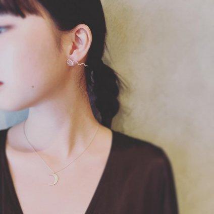 momocreatura Crescent Moon Necklace Silver(モモクリアチュラ 三日月ネックレス 燻しシルバー)