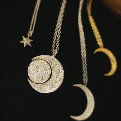 momocreatura Crescent Moon&Sun Necklace(モモクリアチュラ 三日月と太陽ネックレス)50cm+10cm