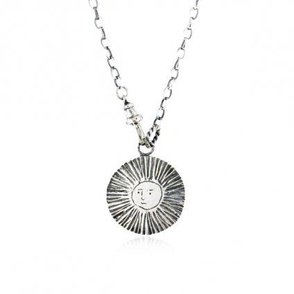 momocreatura Large Moon&Sun Disc Lariet Necklace Silver(モモクリアチュラ 月&太陽ラリエット シルバー)