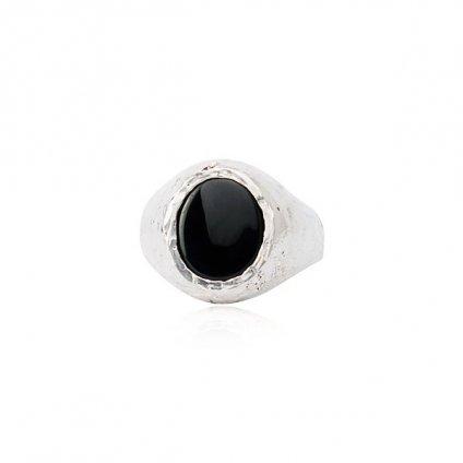 momocreatura Signet Ring Silver×ONYX(シグネットリング シルバー×オニキス)