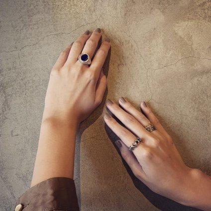 momocreatura  Signet Ring Silver×LAPIS(シグネットリング シルバー×ラピスラズリ)